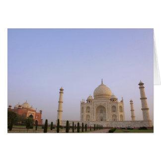 Leeres Charbagh arbeitet beim Taj Mahal in im Karte
