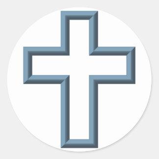 Leeres Kreuz Runder Aufkleber