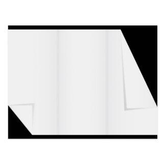 Leeres Papier mit gefalteten Ecken Postkarte