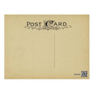 Leeres Postkarten-Pergament-Vintager beige Postkarte