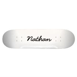 Leeres Weiß Personalisiertes Skateboard