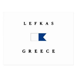 Lefkas Griechenland Alphatauchen-Flagge Postkarte