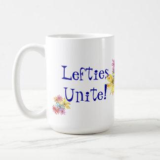 Lefties-linkshändige Blumenkunst Kaffeetasse