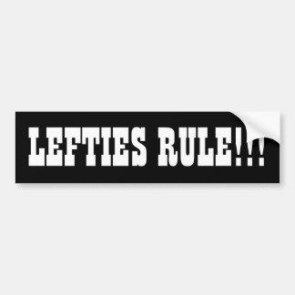 LEFTIES-REGEL!!! AUTOAUFKLEBER