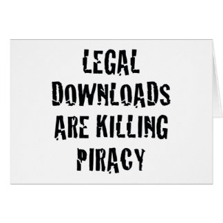 Legale Downloads töten Piraterie Karte
