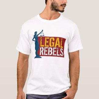 Legale Rebellen u. Dame Justice auf Rot T-Shirt