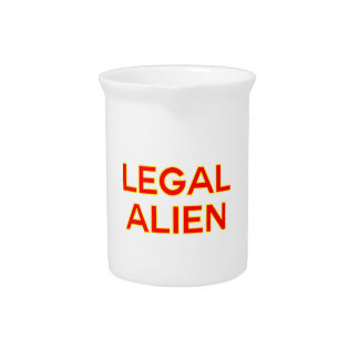 Legales lustiges Nehmen des alien-  auf Krug