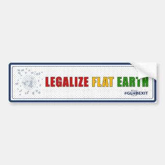 Legalisieren Sie den flachen ErdAutoaufkleber Autoaufkleber