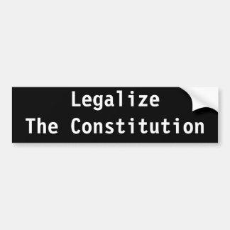 Legalisieren Sie die Konstitution Autoaufkleber