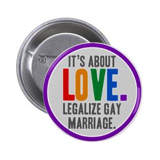 Legalisieren Sie Ehe-Knopf Runder Button 5,1 Cm