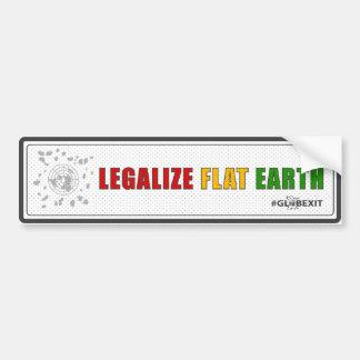 Legalisieren Sie flachen ErdAutoaufkleber Autoaufkleber