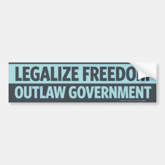 Legalisieren Sie Freiheit, geächteten Autoaufkleber