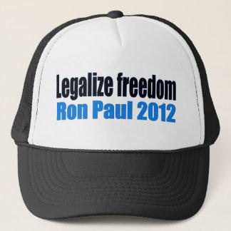 Legalisieren Sie Freiheit Ron Paul 2012 Truckerkappe