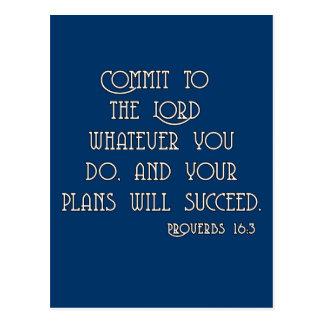 Legen Sie am Lord Bible Quote Tshirts fest Postkarten