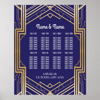 Legen Sie Wedding Gatsby Kunst-Dekozwanziger jahre Poster