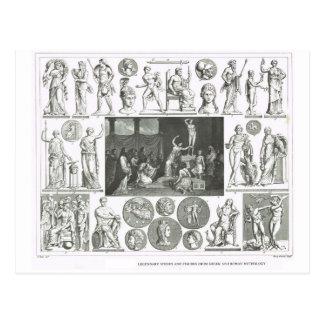 Legendäre Zahlen von der griechischen und Postkarten