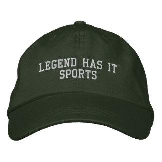 Legende hat es zur Schau trägt Bestickte Baseballkappe