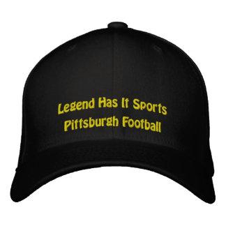 Legende hat es zur Schau trägt/Pittsburgh-Fußball Bestickte Baseballkappe