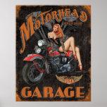 Legenden - Motorhead Garage Posterdruck