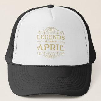 Legenden sind im April geboren Truckerkappe