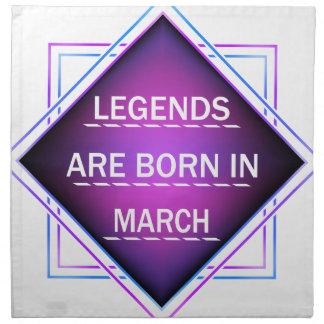 Legenden sind im März geboren Serviette