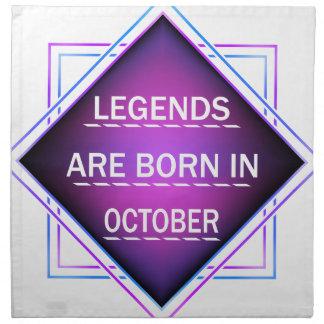 Legenden sind im Oktober geboren Serviette