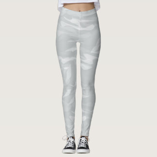 leggings Tarnung sanfte Töne graues Weiß