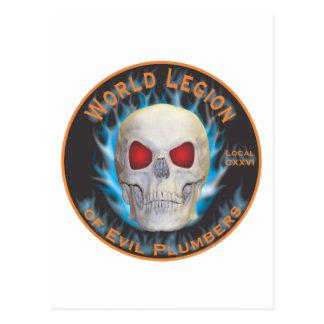 Legion der schlechten Klempner Postkarte