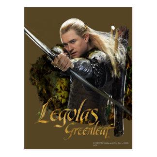 LEGOLAS GREENLEAF™, das Bogen-Grafik zeichnet Postkarte