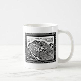 Leguan black/white tasse
