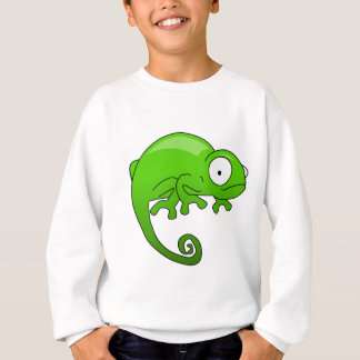 Leguan-Cartoon der grünen Eidechse Sweatshirt