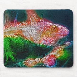 Leguan-Eidechsen-Reptil-Tier-Kunst Mousepad