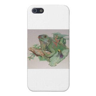 Leguan/Frosch, der an schaut Etui Fürs iPhone 5