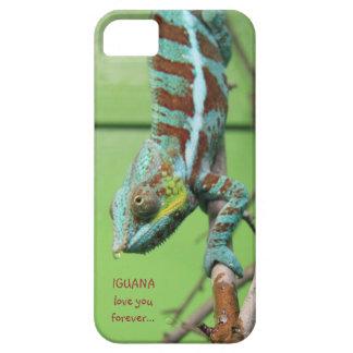 LEGUAN-Liebe Sie für immer, blaues grüne Eidechse Etui Fürs iPhone 5