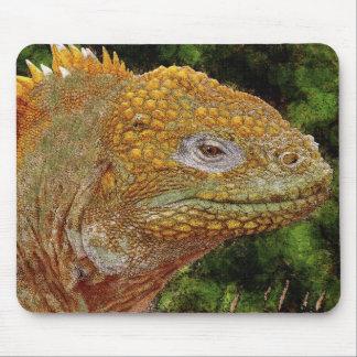 Leguan-Reptil-Eidechsen-Tier-Kunst Mousemat Mousepad