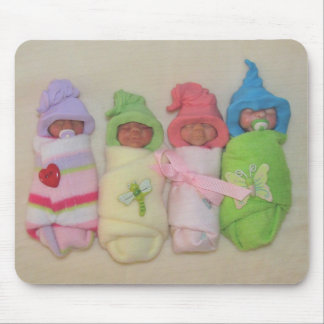 Lehm-Babys: Skulptur, Polymer-Lehm Mousepad