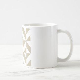Lehm-geometrisches Deko-Würfel-Muster Kaffeetasse