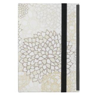 Lehm und weißer Blumen-Explosions-Entwurf iPad Mini Schutzhüllen