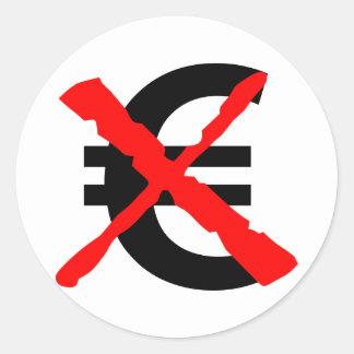 Lehnen Sie den Euro ab! Runder Aufkleber