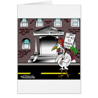Lehnen Sie einfach Hühnersuppe ab Karte