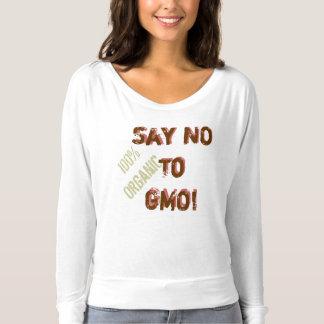 Lehnen Sie GMO ab!  100% Bio T - SHIRT