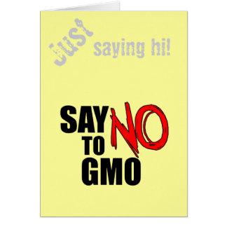 Lehnen Sie GMO ab Karte
