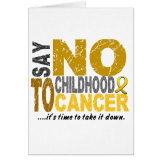 Lehnen Sie Kindheits-Krebs 1 ab Karte