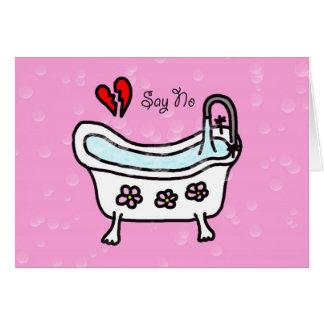 Lehnen Sie Liebe-AntiValentinstag-Karte ab Karte
