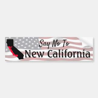 Lehnen Sie neuen Kalifornien-Autoaufkleber ab Autoaufkleber