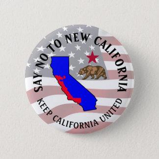 Lehnen Sie neuen Kalifornien-Stützknopf ab Runder Button 5,1 Cm