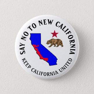 Lehnen Sie neuen Kalifornien-Stützknopf ab Runder Button 5,7 Cm