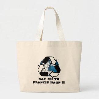 Lehnen Sie Plastiktaschen!! ab! Jumbo Stoffbeutel