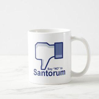 Lehnen Sie Santorum ab Teetasse