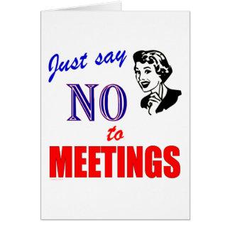 Lehnen Sie Sitzungs-Büro Humor-Dame ab Karte